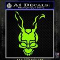 Donnie Darko Frank Decal Sticker Lime Green Vinyl 120x120