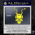 Donnie Darko Frank Decal Sticker Yellow Laptop 120x120