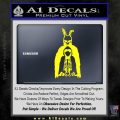 Donnie Darko Watched Over Frank Decal Sticker Yellow Laptop 120x120