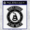 Dont Tread On Me Gadsden Snake DE Decal Sticker Black Vinyl 120x120