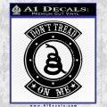 Dont Tread On Me Gadsden Snake DE Decal Sticker Black Vinyl 120x120