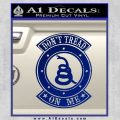 Dont Tread On Me Gadsden Snake DE Decal Sticker Blue Vinyl 120x120