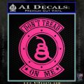 Dont Tread On Me Gadsden Snake DE Decal Sticker Pink Hot Vinyl 120x120