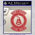 Dont Tread On Me Gadsden Snake DE Decal Sticker Red 120x120