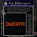 Ducati Retro Decal Sticker Orange Emblem 120x120