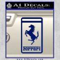FERRARI Emblem Logo D3 Decal Sticker Blue Vinyl 120x120