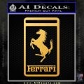 FERRARI Emblem Logo D3 Decal Sticker Gold Vinyl 120x120