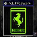 FERRARI Emblem Logo D3 Decal Sticker Lime Green Vinyl 120x120