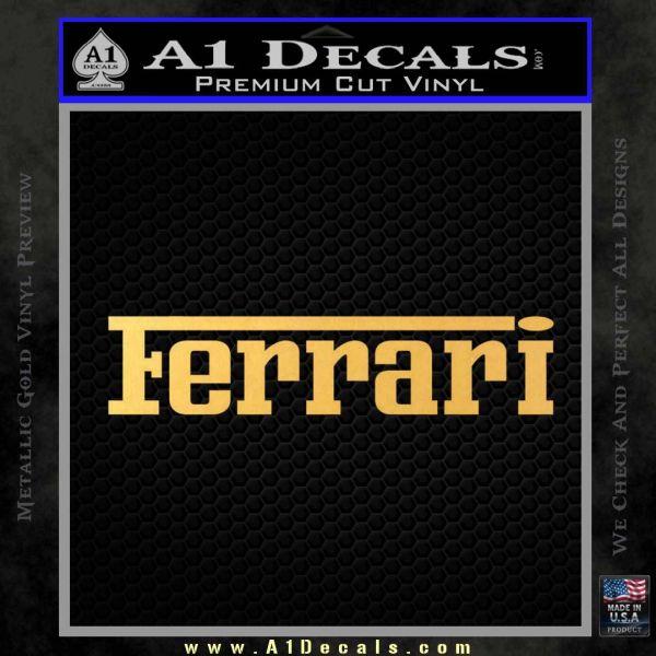 Ferrari Logo DW Decal Sticker Gold Vinyl