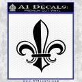 Fleur de Lis Decal Sticker ALT Black Vinyl 120x120
