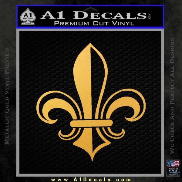 Fleur de Lis Decal Sticker ALT Gold Vinyl