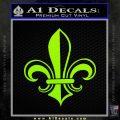 Fleur de Lis Decal Sticker ALT Lime Green Vinyl 120x120