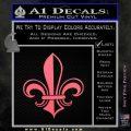 Fleur de Lis Decal Sticker ALT Pink Emblem 120x120