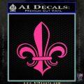 Fleur de Lis Decal Sticker ALT Pink Hot Vinyl 120x120