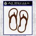 Flip Flop Decal Sticker Sandals BROWN Vinyl 120x120