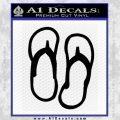 Flip Flop Decal Sticker Sandals Black Vinyl 120x120