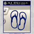Flip Flop Decal Sticker Sandals Blue Vinyl 120x120