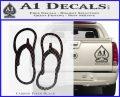 Flip Flop Decal Sticker Sandals Carbon FIber Black Vinyl 120x97