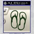 Flip Flop Decal Sticker Sandals Dark Green Vinyl 120x120