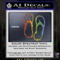 Flip Flop Decal Sticker Sandals Glitter Sparkle 120x120