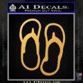 Flip Flop Decal Sticker Sandals Gold Vinyl 120x120
