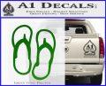 Flip Flop Decal Sticker Sandals Green Vinyl Logo 120x97