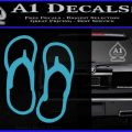 Flip Flop Decal Sticker Sandals Light Blue Vinyl 120x120