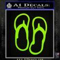 Flip Flop Decal Sticker Sandals Lime Green Vinyl 120x120