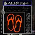 Flip Flop Decal Sticker Sandals Orange Emblem 120x120