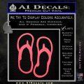 Flip Flop Decal Sticker Sandals Pink Emblem 120x120