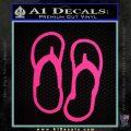 Flip Flop Decal Sticker Sandals Pink Hot Vinyl 120x120