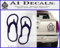 Flip Flop Decal Sticker Sandals PurpleEmblem Logo 120x97