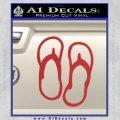 Flip Flop Decal Sticker Sandals Red 120x120