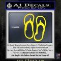 Flip Flop Decal Sticker Sandals Yellow Laptop 120x120