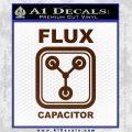 Flux Capacitor Decal Sticker BROWN Vinyl 120x120