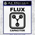 Flux Capacitor Decal Sticker Black Vinyl 120x120