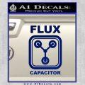 Flux Capacitor Decal Sticker Blue Vinyl 120x120