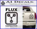 Flux Capacitor Decal Sticker Carbon FIber Black Vinyl 120x97