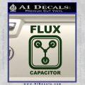 Flux Capacitor Decal Sticker Dark Green Vinyl 120x120