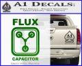 Flux Capacitor Decal Sticker Green Vinyl Logo 120x97