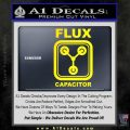 Flux Capacitor Decal Sticker Yellow Laptop 120x120