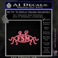 Flying Spaghetti Monster Pastafarian Decal Sticker Pink Emblem 120x120