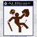 Funny Warrior Video Game D1 Decal Sticker BROWN Vinyl 120x120