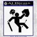 Funny Warrior Video Game D1 Decal Sticker Black Vinyl 120x120