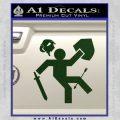 Funny Warrior Video Game D1 Decal Sticker Dark Green Vinyl 120x120