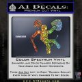Funny Warrior Video Game D1 Decal Sticker Glitter Sparkle 120x120