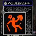 Funny Warrior Video Game D1 Decal Sticker Orange Emblem 120x120