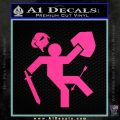 Funny Warrior Video Game D1 Decal Sticker Pink Hot Vinyl 120x120