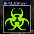Futuristic Biohazard Decal Sticker D1 Lime Green Vinyl 120x120