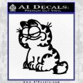Garfield Decal Sticker Sitting Black Vinyl 120x120